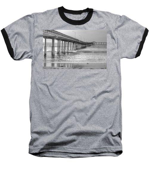 Ocean Beach Pier Baseball T-Shirt