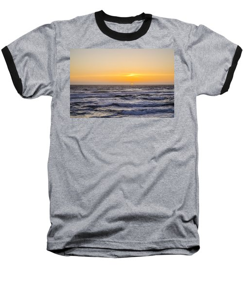 Ocean Beach Sunset Baseball T-Shirt