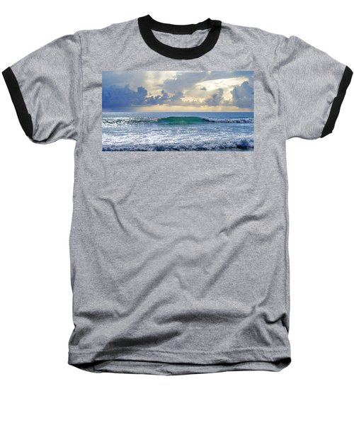 Ocean Blue Baseball T-Shirt