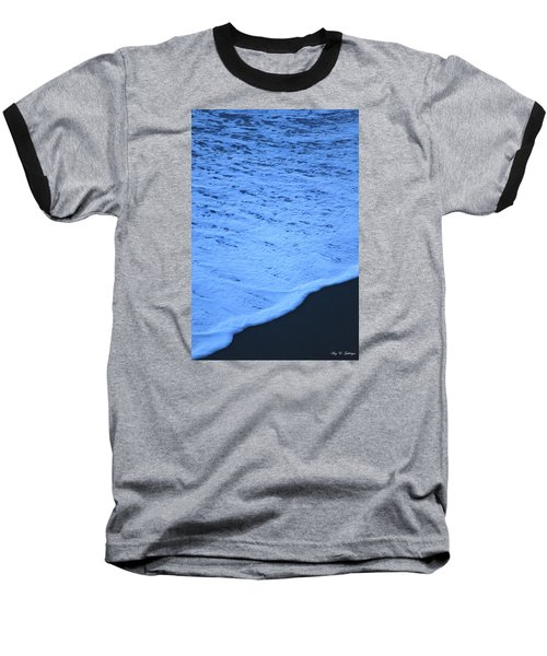 Ocean Blues Baseball T-Shirt by Amy Gallagher