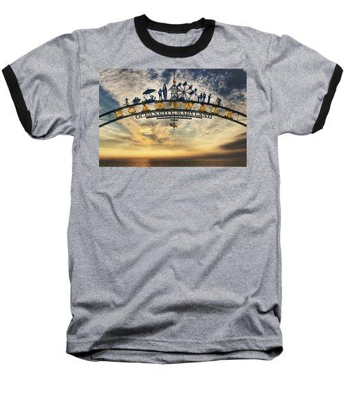 Ocean City Boardwalk Baseball T-Shirt by Lori Deiter