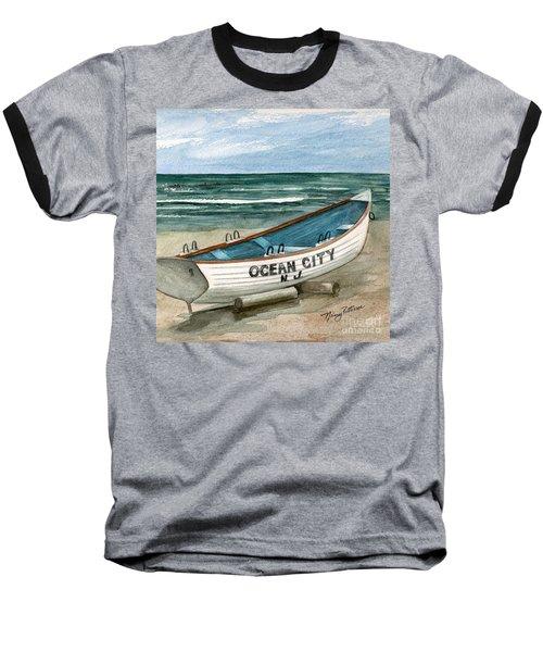 Ocean City Lifeguard Boat 2  Baseball T-Shirt