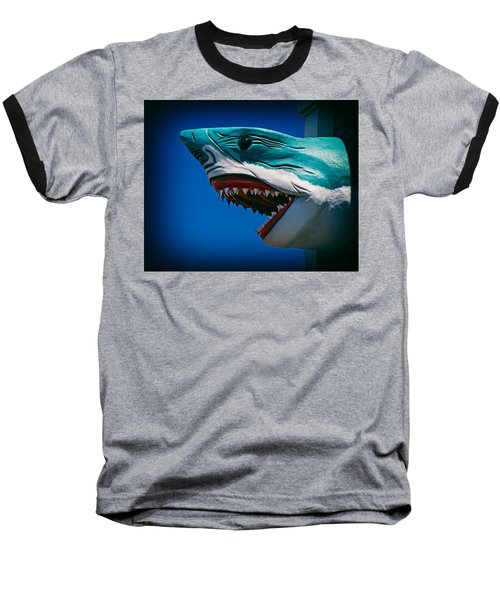 Ocean City Shark Attack Baseball T-Shirt