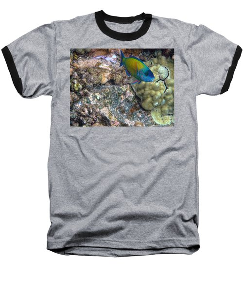 Baseball T-Shirt featuring the photograph Ocean Color by Peggy Hughes