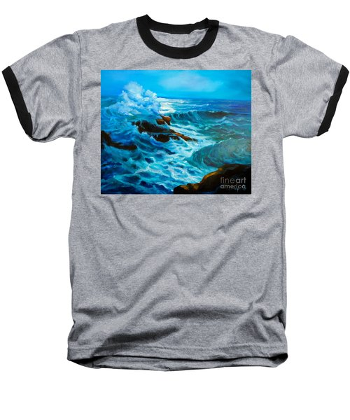 Baseball T-Shirt featuring the painting Ocean Deep by Jenny Lee