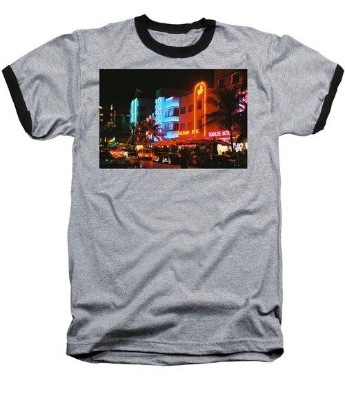 Ocean Drive Film Image Baseball T-Shirt