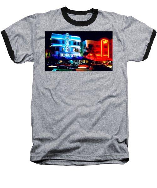 Ocean Drive Polaroid  Baseball T-Shirt