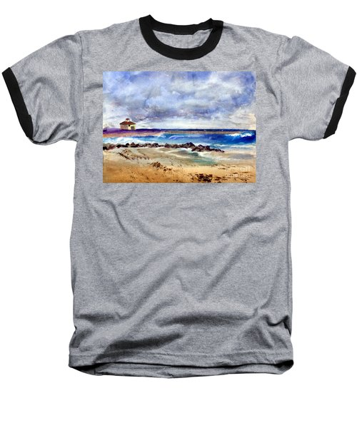 Ocean  Inlet Beach In Boynton Beach Baseball T-Shirt