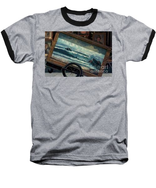 Baseball T-Shirt featuring the photograph Ocean On Wheels Artist Cart At Jackson Square New Orleans La Usa by Michael Hoard