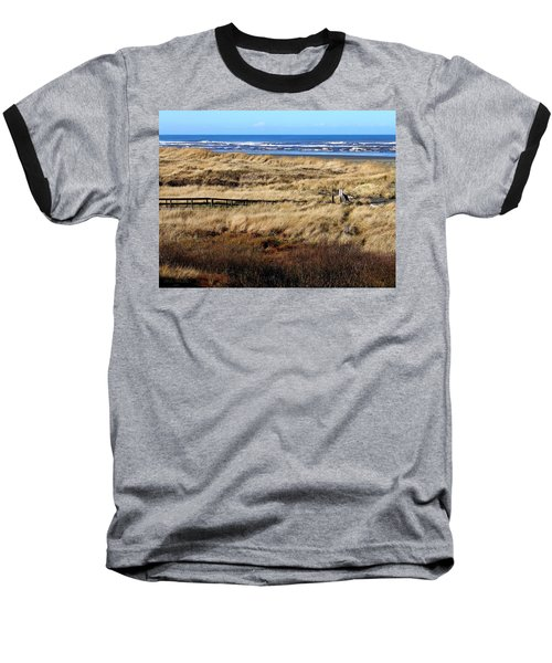Baseball T-Shirt featuring the photograph Ocean Shores Boardwalk by Jeanette C Landstrom