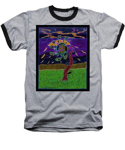 Ocean Side Flower At Sun Set    V3 Baseball T-Shirt