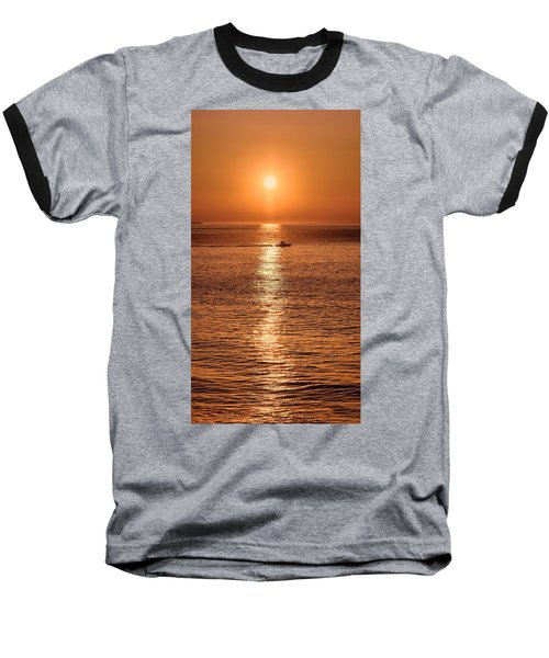 Ocean Sunrise At Montauk Point Baseball T-Shirt
