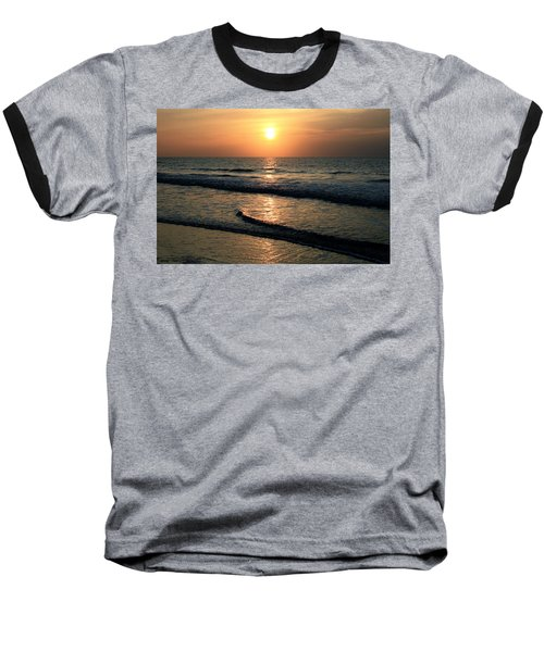 Ocean Sunrise Over Myrtle Beach Baseball T-Shirt
