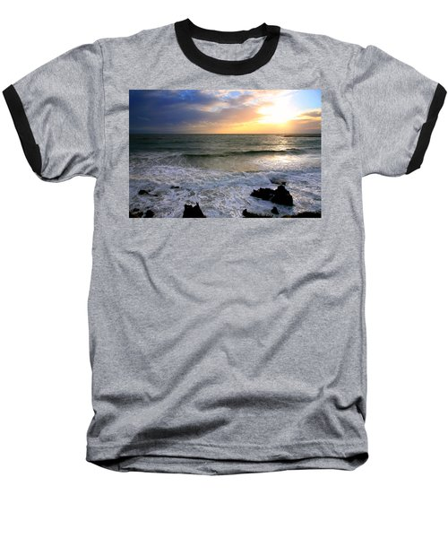 Ocean Sunset 84 Baseball T-Shirt