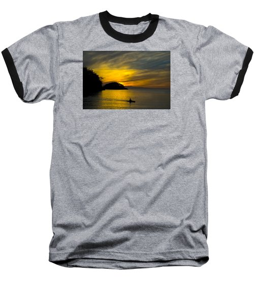 Baseball T-Shirt featuring the photograph Ocean Sunset At Rosario Strait by Yulia Kazansky