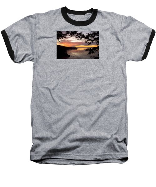 Ocean Sunset Deception Pass Baseball T-Shirt