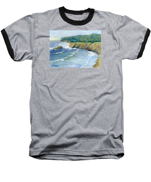 Ocean Surf Colorful Original Seascape Painting Baseball T-Shirt