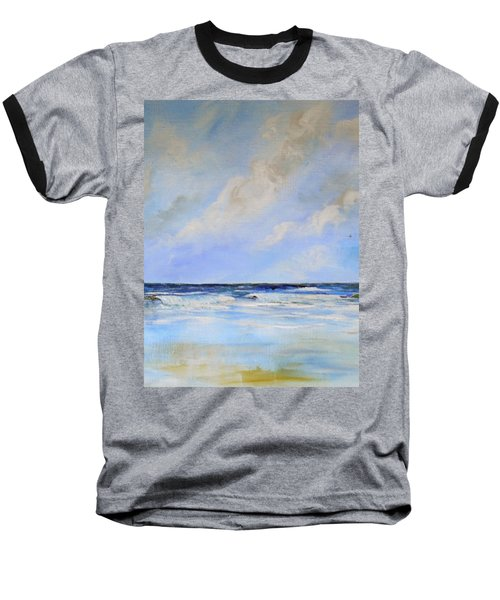 Ocean View Baseball T-Shirt by Dorothy Maier