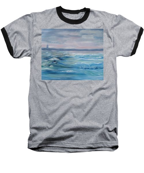 Oceans Of Color Baseball T-Shirt by Diane Pape
