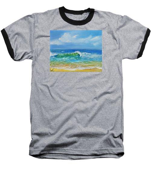 Oceanscape Baseball T-Shirt by Teresa Wegrzyn