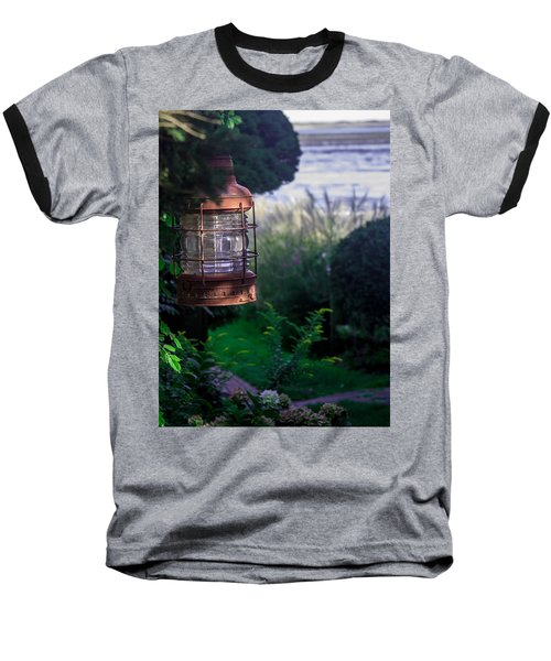 Oceanside Lantern Baseball T-Shirt by Patrice Zinck