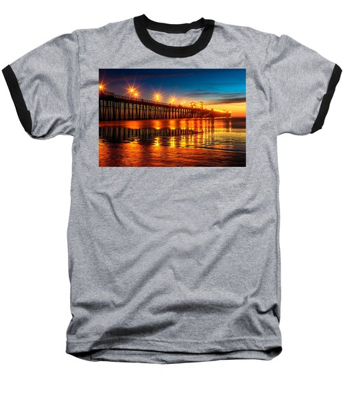 Oceanside Pier 2 Baseball T-Shirt