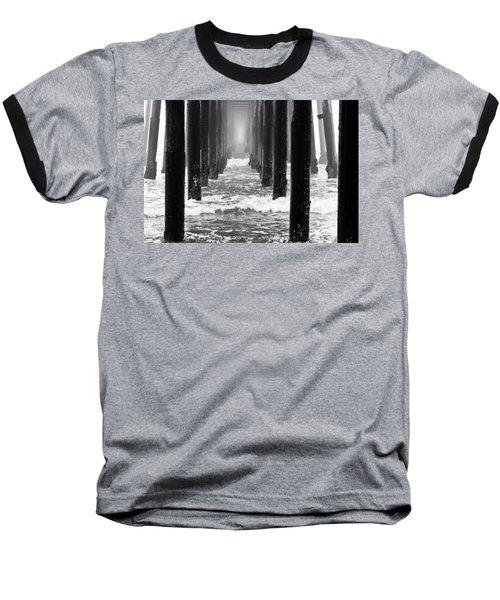 Oceanside Pier In Fog Baseball T-Shirt