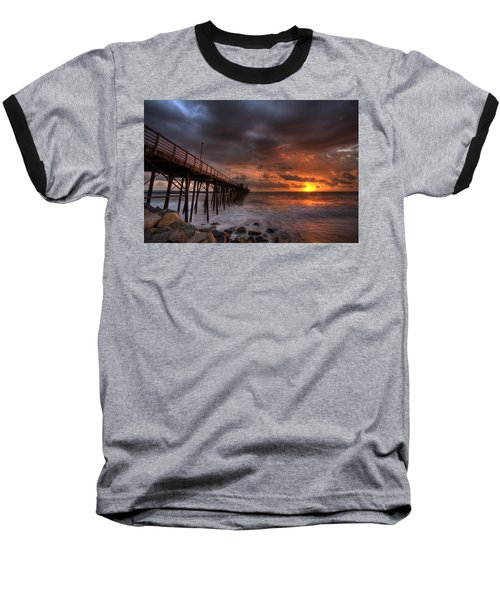 Oceanside Pier Perfect Sunset Baseball T-Shirt