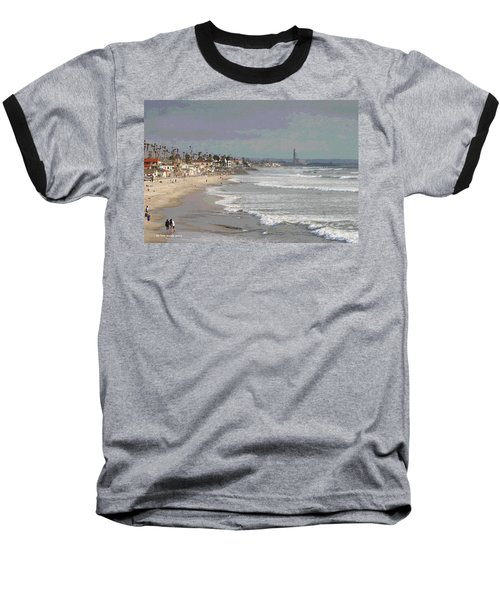 Baseball T-Shirt featuring the photograph Oceanside South Of Pier by Tom Janca