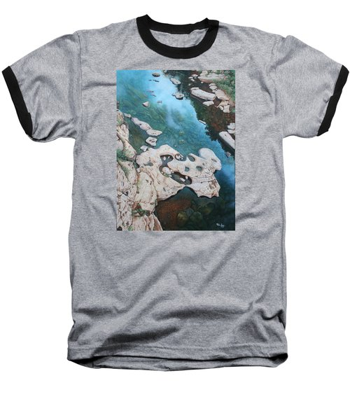 Ocoee River Low Tide Baseball T-Shirt by Mike Ivey