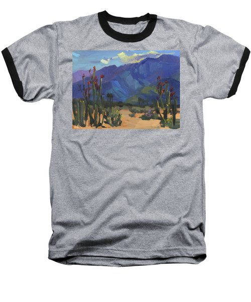 Ocotillos At Smoke Tree Ranch Baseball T-Shirt by Diane McClary