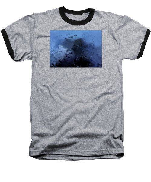 October Blues Baseball T-Shirt by Gun Legler
