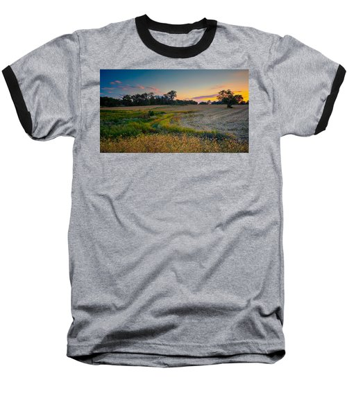 October Evening On The Farm Baseball T-Shirt
