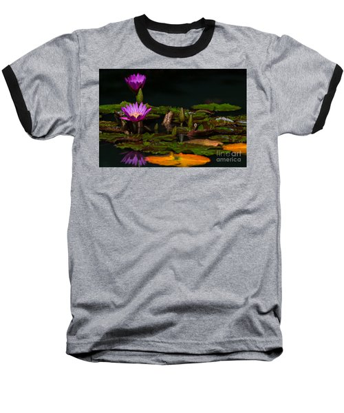October Lilies 2 Baseball T-Shirt