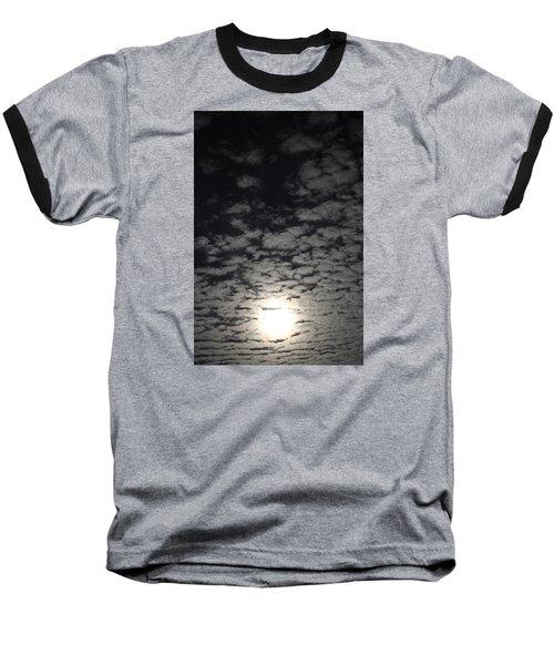 October Moon Baseball T-Shirt by Joel Loftus