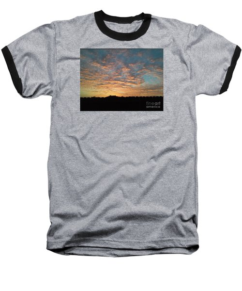 October Sunrise Baseball T-Shirt by Susan Williams
