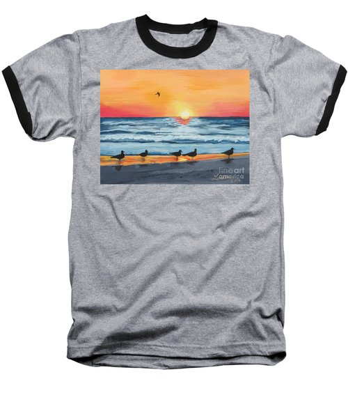 October Sunset On Siesta Key Florida Baseball T-Shirt