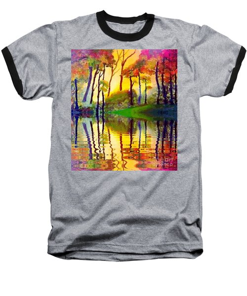 Baseball T-Shirt featuring the painting October Surprise by Holly Martinson