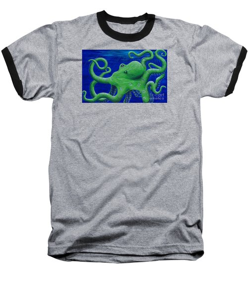 Octohawk Baseball T-Shirt by Rebecca Parker