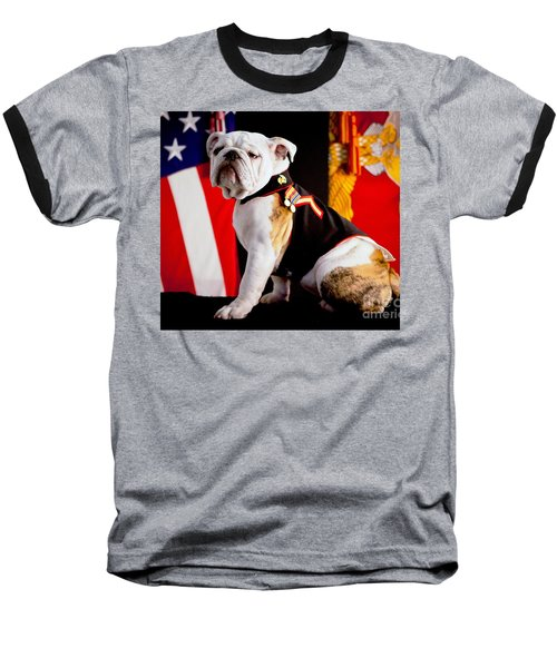 Official Mascot Of The Marine Corps Baseball T-Shirt by Pg Reproductions