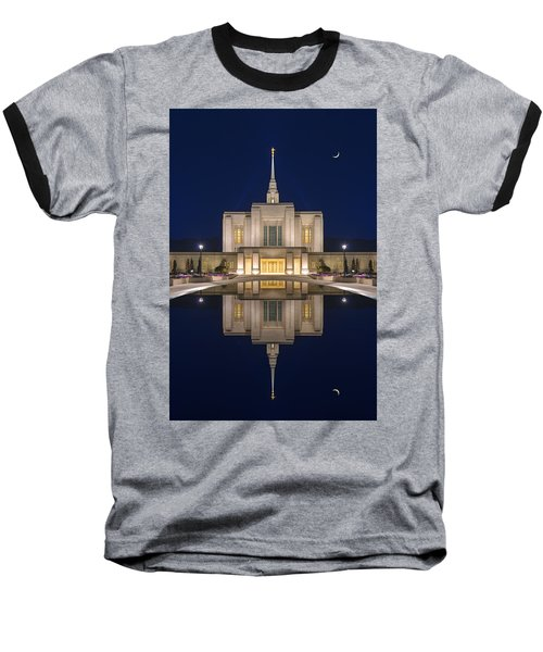 Ogden Temple Reflection Baseball T-Shirt