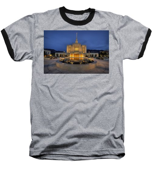 Ogden Temple Reflections Baseball T-Shirt
