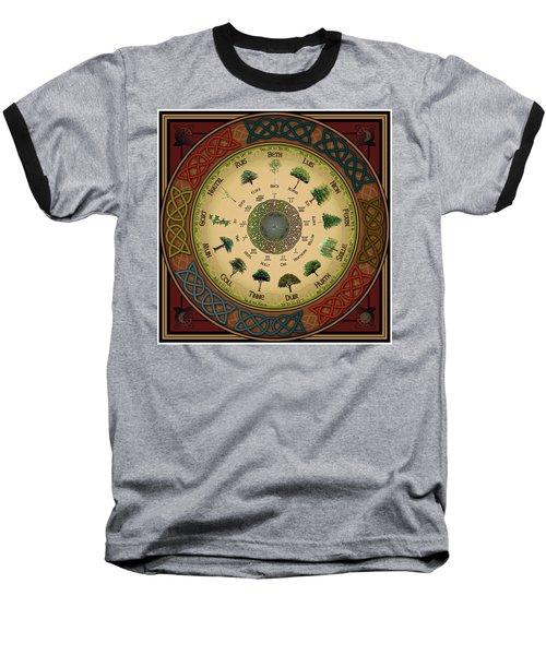 Ogham Tree Calendar Baseball T-Shirt