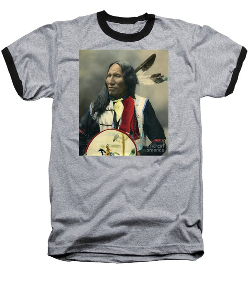 Oglala Chief Strikes With Nose 1899 Baseball T-Shirt