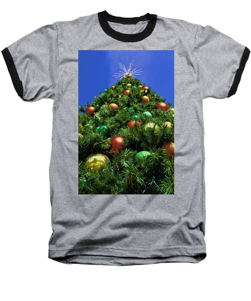 Baseball T-Shirt featuring the photograph Oh Christmas Tree by Kathy Churchman