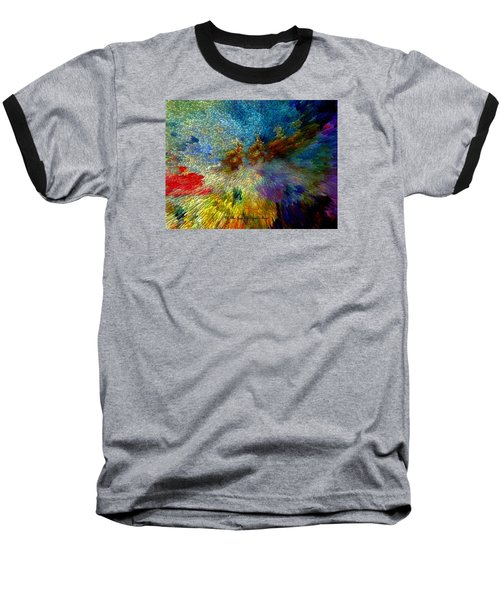 Baseball T-Shirt featuring the painting Oh The Joys Of Santa's Toys by Lisa Kaiser