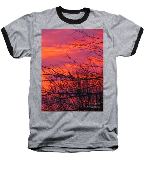 Oh What A Beautiful Morning Baseball T-Shirt by Elizabeth Dow