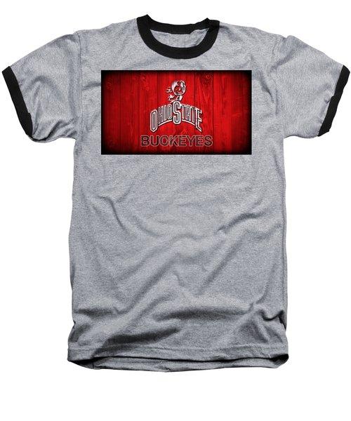 Ohio State Buckeyes Barn Door Vignette Baseball T-Shirt