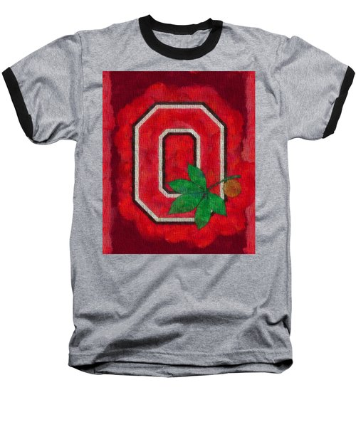 Ohio State Buckeyes On Canvas Baseball T-Shirt
