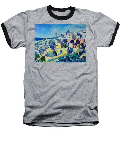 Baseball T-Shirt featuring the painting OIA by Ana Maria Edulescu